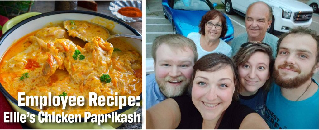 Facet Employee Recipe: Ellie's Chicken Paprikash for Stovetop or Pressure Cooker